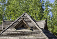 The old wooden roof