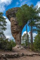 Unique rock formations in La Ciudad Encantada or Enchanted City natural park near Cuenca, Castilla la Mancha, Spain