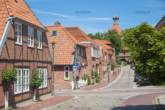 Johannisstraße in der Altstadt von Oldenburg in Holstein