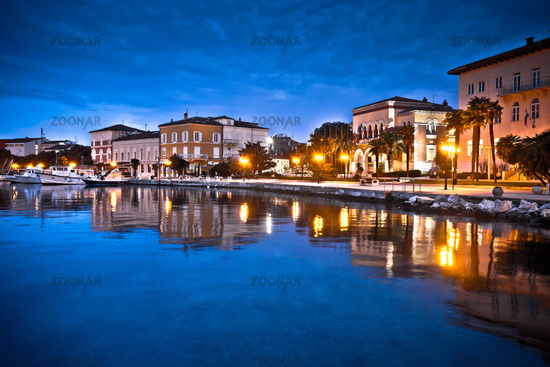 Town of Porec waterfront colorful dawn view