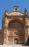 Convent of San Estaban in the center of old Salamanca in Spain