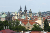 Panorama auf Prag mit Teynkirche