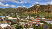 Over The Downtown City Center area of Bisbee Arizona USA