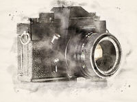 Watercolor analogue camera