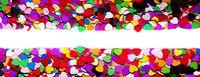 Valentine day hearts frame