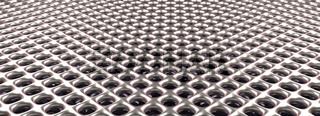 Shiny silver metal grid background, 3d rendering