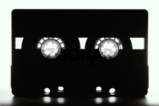 Vintage retro audio cassette. Analog music