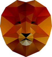 Low poly illustration. Lion