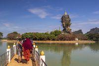 Amazing Kyauk Ka Lat Pagoda near Hpa-An, Myanmar