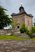 BROUMOV, CZECH REPUBLIC - MAY 28, 2009: The Star Chapel in the hills above the town of Broumov