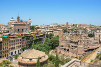 View of Rome  Roman Forum from Palatine Hill