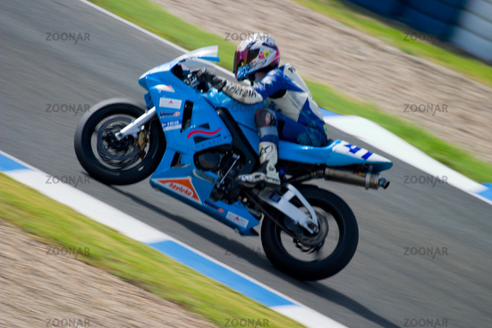 Pilot of motorcycling of Supersport in the Spanish championship