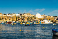 view of the port of Marsaxlokk city