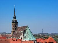 Bautzen, Sachsen, Deutschland: Luftaufnahme von Bautzen mit dem St. Petri Dom