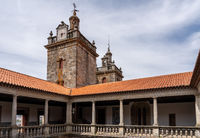 Interior cloisters and towers of the Se or cathedral church in Viseu in Portugal