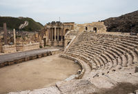 Ruins of amphitheater in the ancient Roman city.