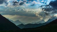 Gewitter in den Alpen