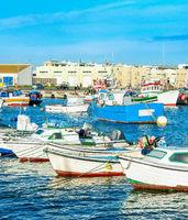 Peniche harbor,fishing boats, Portugal