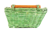 Green Wooden Basket