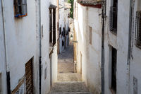 Narrow Alley in Albaicin District in Granada, Spain