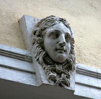 medallions on the buildings for decoration, masverk