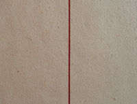 brown cardboard texture with vertical red line