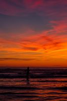 A Colorful Sunset at a Northern California Beach.