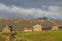 Kleine Siedlung an der Sognefjellsveien