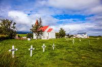 The ancient cemetery near the church