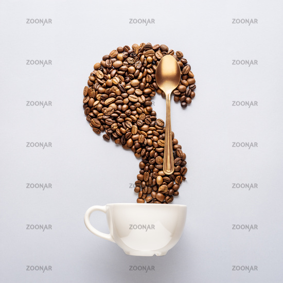 Coffee and spoon.