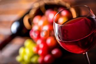 Red wine close up