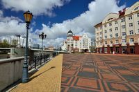 Kaliningrad, Russia - 22 April 2017: View of the Fishing village - Cultural and ethnographic complex, tourist attraction of the city