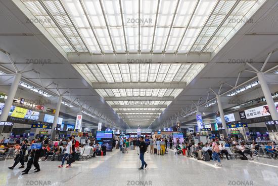 Shanghai Hongqiao railway train station in China