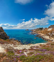 Sea beach near Rocca di San Nicola, Agrigento, Sicily, Italy