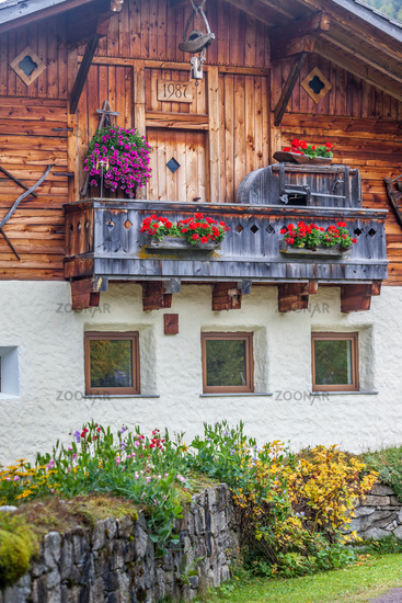 Old farmhouse in the Valle aurinal, South Tyrol
