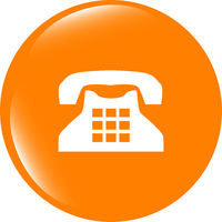 illustration of a rotary phone, web button icon