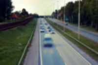 Strong blurred unrecognizable vehicles