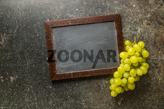 Tasty green grapes. White grape.