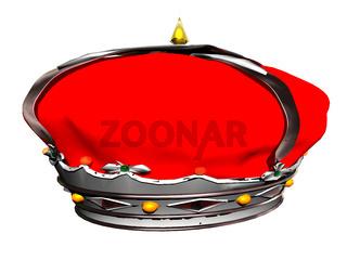 königliche Krone mit roter Samthaube