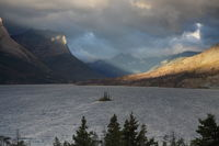 St. Mary Lake and wild goose island in Glacier national park