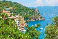 Landscape with Portofino town