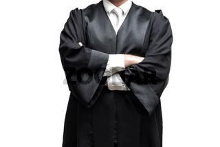 deutscher Rechtsanwalt mit Robe