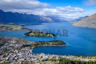 Lake Wakatipu and Queenstown, New Zealand
