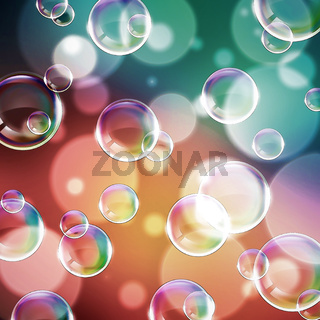 Abstract image of a beautiful rainbow bubble.