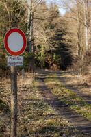 befahren der Waldwege verboten Durchfahrtsverbot
