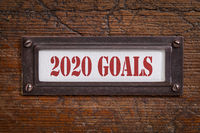 2020 goals - file cabinet label