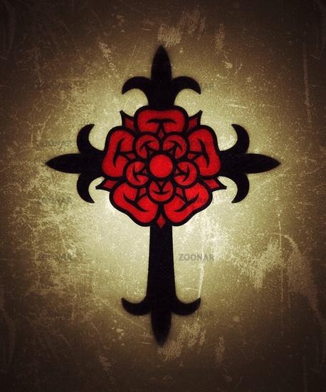 Rosenkreuz (Cross with Rose)