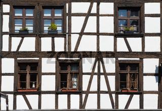 Windows of house in Strasbourg