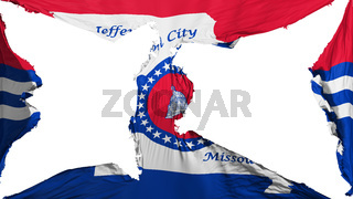 Destroyed Jefferson city capital flag