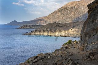Felsenküste im Südwesen von Kreta, Griechenland